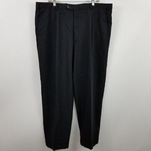 Armani Colleczioni Mens Black Pleated Suit Pants